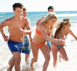 Teens on Ambergris Caye