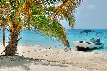 Boat on Belize Beach
