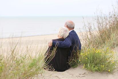 Happy Retirees on the Beach