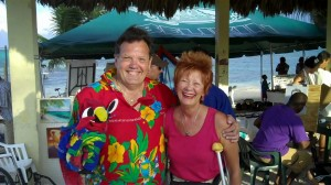 Ann with Weatherman Joey at Lobster Fest 2010