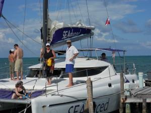 Seaduced Catamaran Deck - Hol Chan Snorkeling Trip