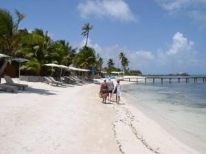 Walking at Mata Chica's Beach