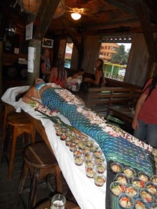 Mermaid Nyotaimori on Ambergris Caye