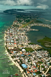 San Pedro Town from the Air