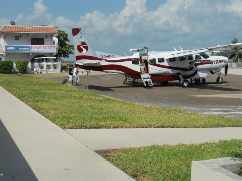 Boarding a Tropic Flight in San Pedro