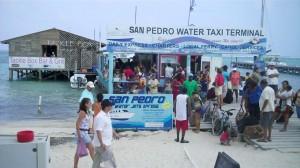 San Pedro Water Taxi Terminal on the Beach