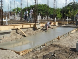 Pouring the Building A Handicap Access Ramp