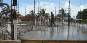 Smoothing Our Concrete Poured for Building A