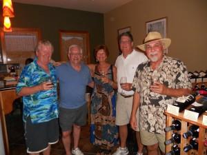 Jim Makes New Friends at Wine de Vine