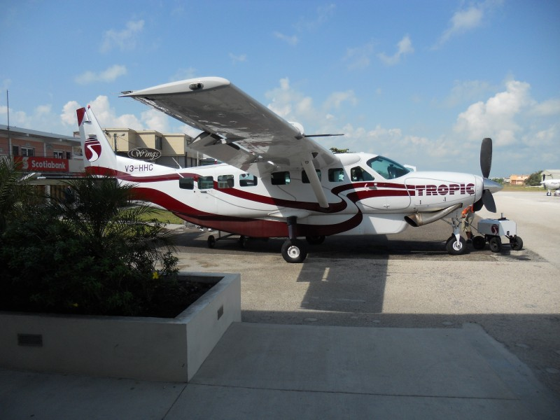 Tropic Air Plane Ready for Passengers