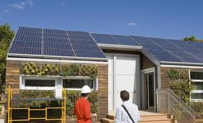 Example of a solar powered home