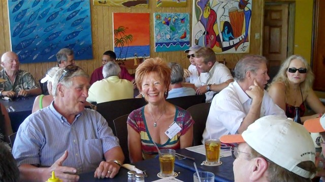 Attendee and Ann Visit at Blue Water Grill Chill Weekend Lunch