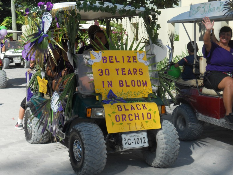 Island Academy Black Orchid Golf Cart Float