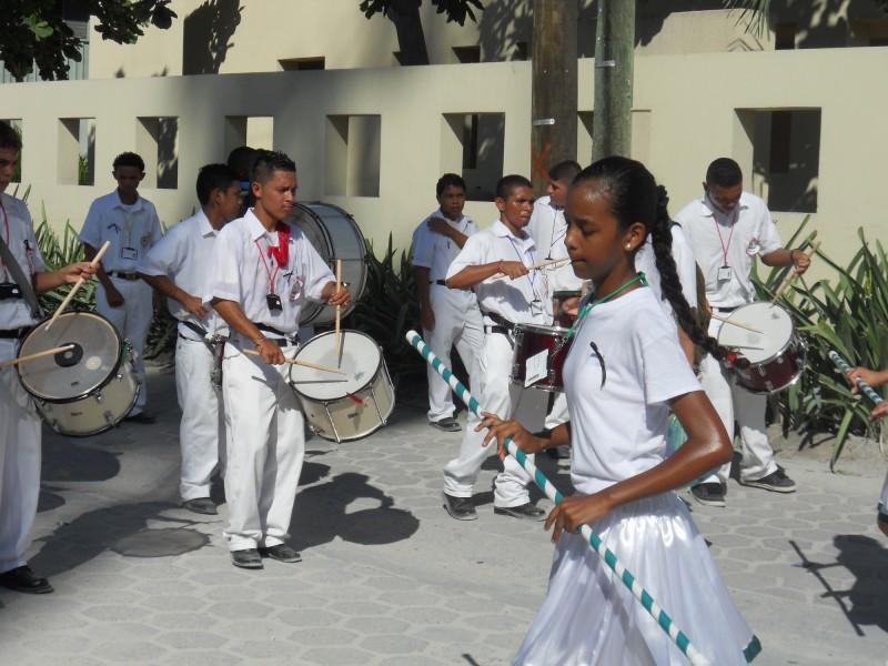 San Pedro Drummers and Baton Majorettes