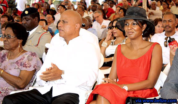 Prime Minister Barrown and Wife Kim at Independence Day 2011