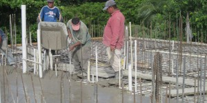 Bldg A - Spreading Concrete on the 3rd Floor