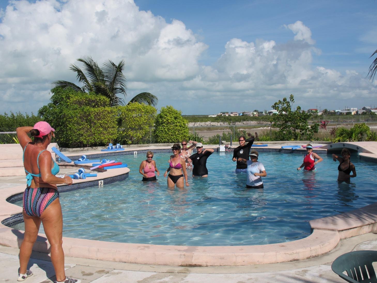 Water Aerobics on Christmas Eve Day