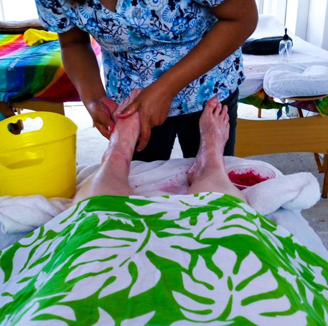 The most glorious  foot scrub