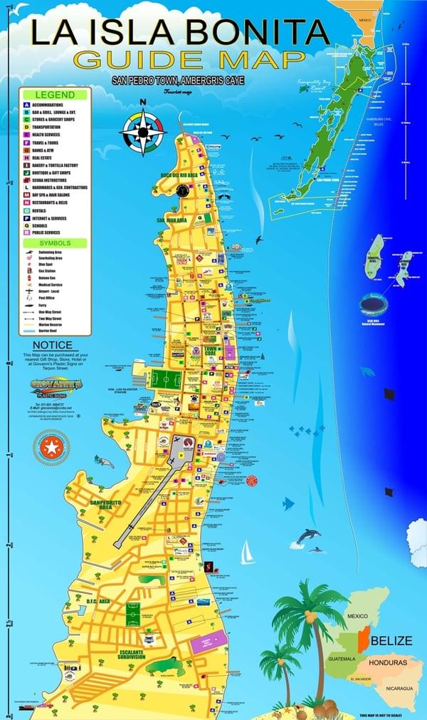 La Isla Bonita Guide Map