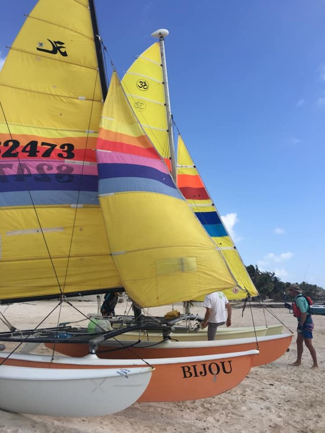 Hobie Cats at the Belize Saling Center