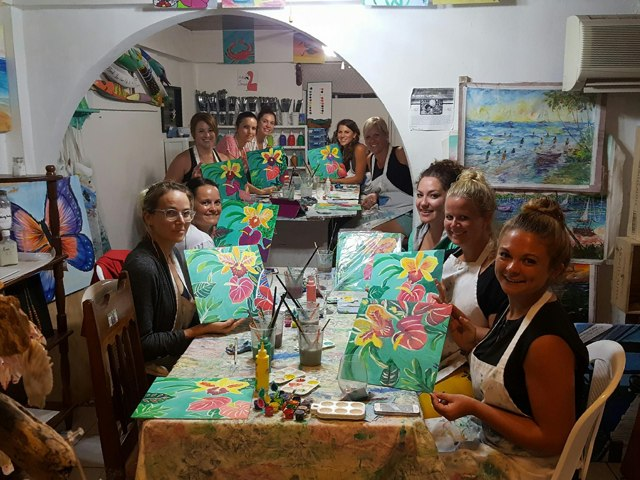Paint Night at Melody's Art Studio