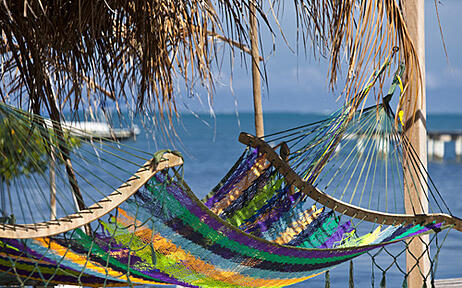 Rest on a hammock straight out of Ambergris Caye