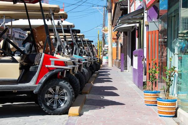 Golf carts on street