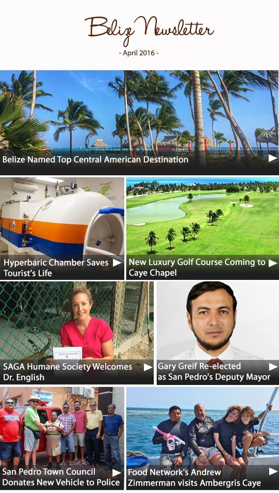 Belize Newsletter April 2016