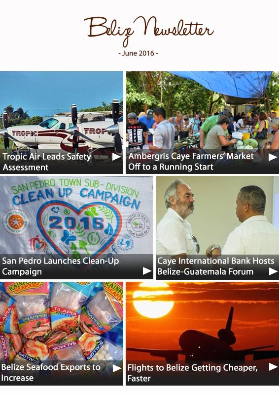 Belize Newsletter June 2016
