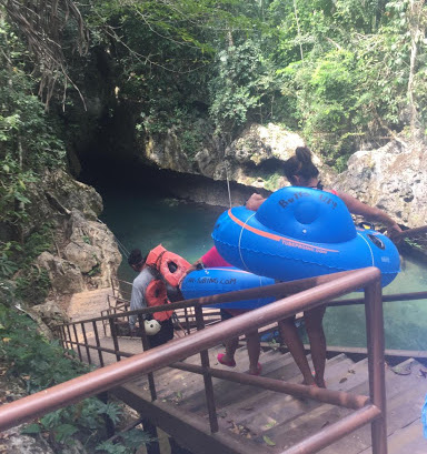 Stairs to Cave Tubing