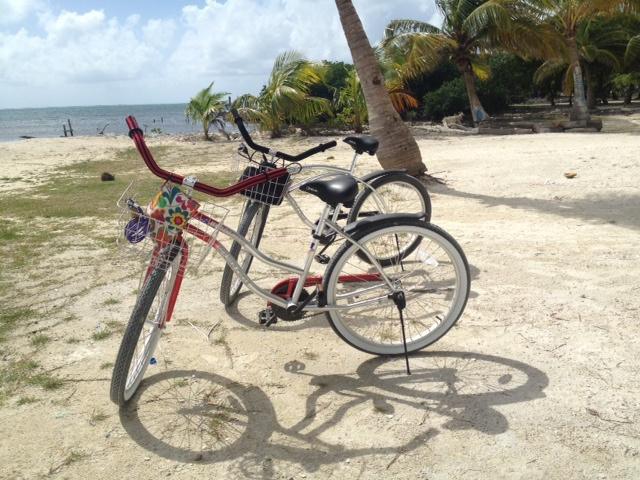 belize bikes on beach